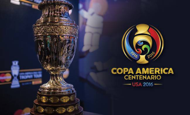 The Copa América trophy. USA and Colombia play on Friday.