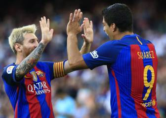 Suárez and Messi lead Barça rout of Real Betis