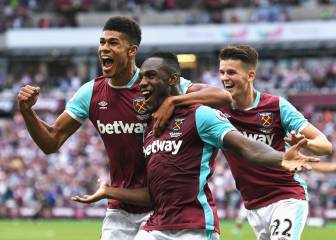 Michail Antonio 'baptises' West Ham's new stadium