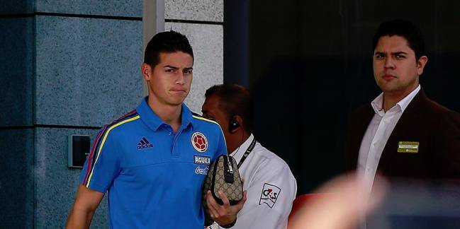 James Rodriguez may feature against Uruguay in his nation's 10th game in qualifying.