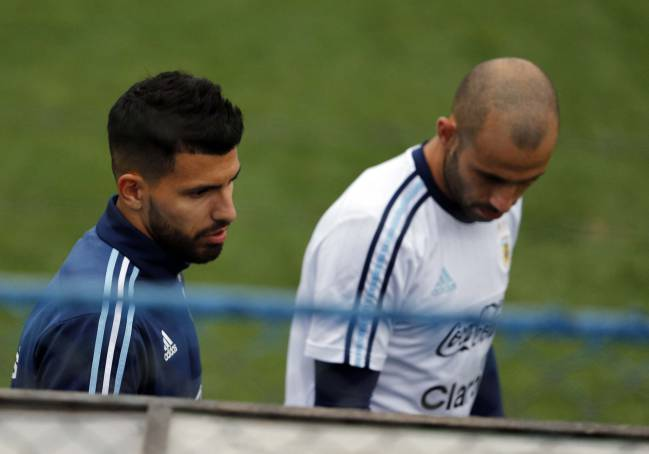 Aguero and Mascherano will have to do without Messi.