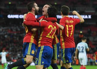 Aspas and Isco secure late, late Wembley draw for Spain