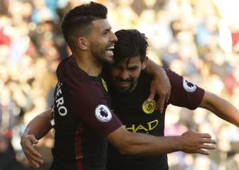 Aguero at the double to deny Burnley
