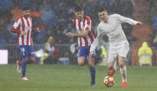 Kovacic during his sixth consecutive start on Saturday evening in the rain.