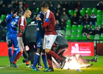 Metz handed stadium closure after Lyon firecracker incident