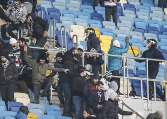 Besiktas fans hospitalised after Kiev violence