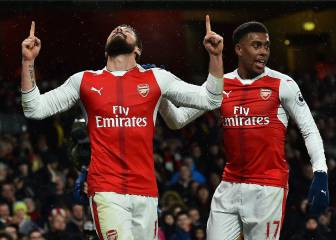 Giroud sees 2017 in with inspirational scorpion kick