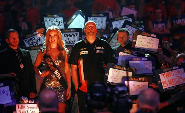 Raymound van Barneveld during the PDC World Darts Championship semi final between Michael van Gerwen