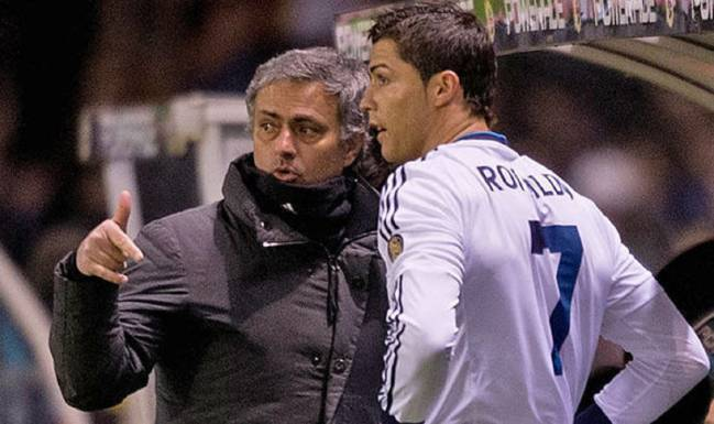 Ronaldo and Mourinho during their time together at Real Madrid