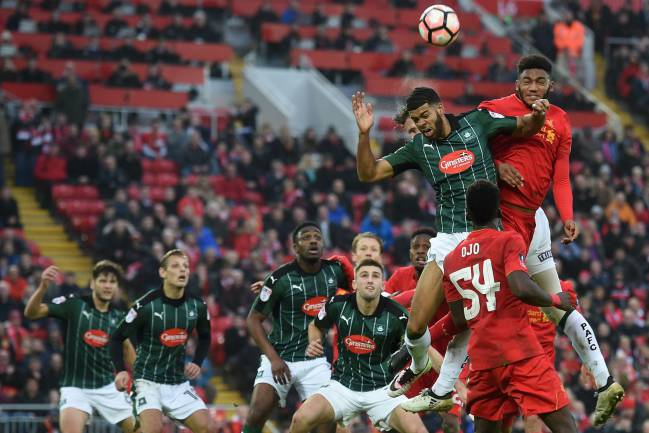 Liverpool vs Plymouth FA Cup 2017