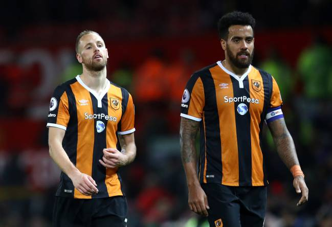 David Meyler and Tom Huddlestone of Hull City disappointed.