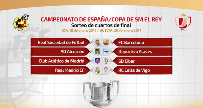 Copa del Rey draw: Madrid, Barça and Atletico avoid each other ...