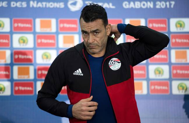 Egypt's national football team captain Essam El-Hadary attends a press conference during the African Cup of Nations