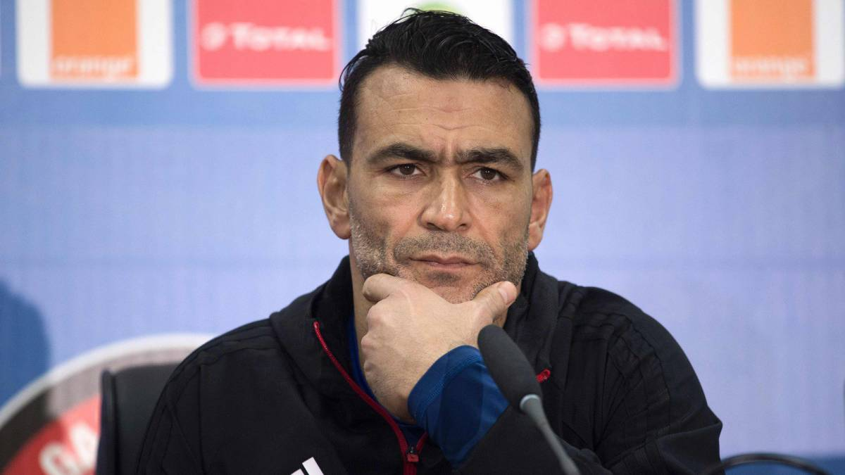 Egypt's national football team captain Essam El-Hadary attends a press conference at the African Cup of Nations