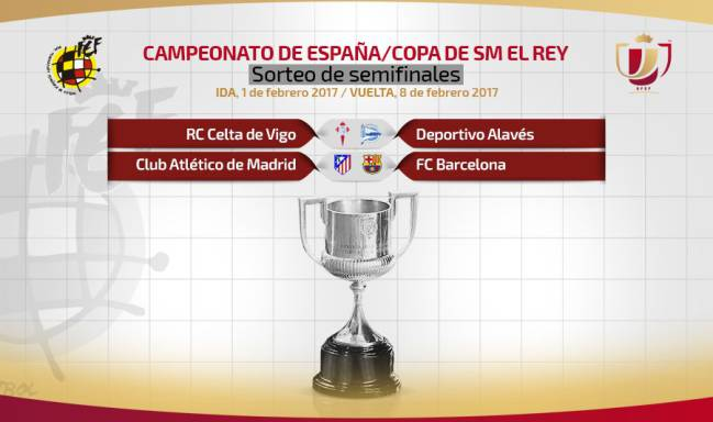 Copa del Rey semi-final draw: Celta-Alavés / Atlético-Barça - AS ...