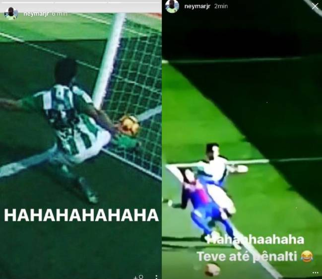 Neymar takes to Instagram after Barcelona draw with Real Betis.