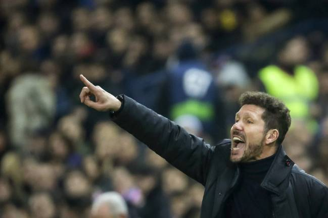 Atlético Madrid manager Diego Simeone managed to restoke the flames at half-time.