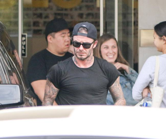 David Beckham is seen on February 02, 2017 in Los Angeles, California.