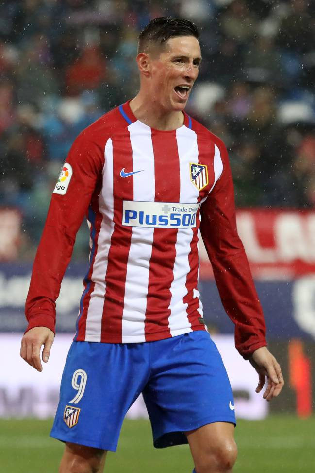 Atletico Madrid's forward Fernando Torres is on form and knows how to score against Barça.