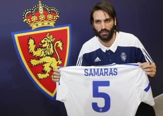 Georgios Samaras unveiled as new Real Zaragoza No. 5