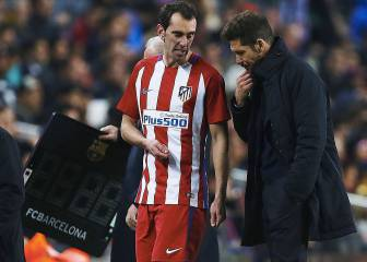 Godín injury leaves Diego Simeone facing defensive crisis