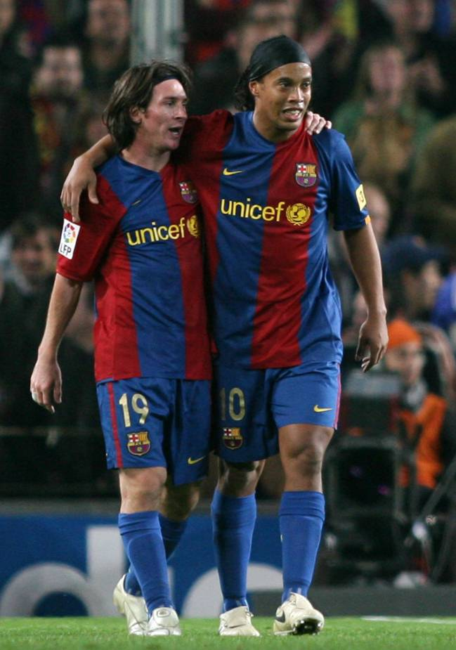 Ronaldinho and some young upstart called Messi.