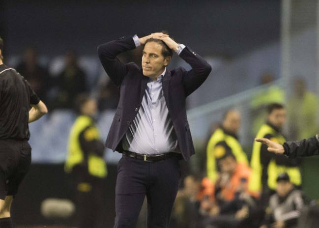 A frustrated and disappointed Berizzo.