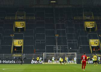 Eerie sight of Dortmund's famous