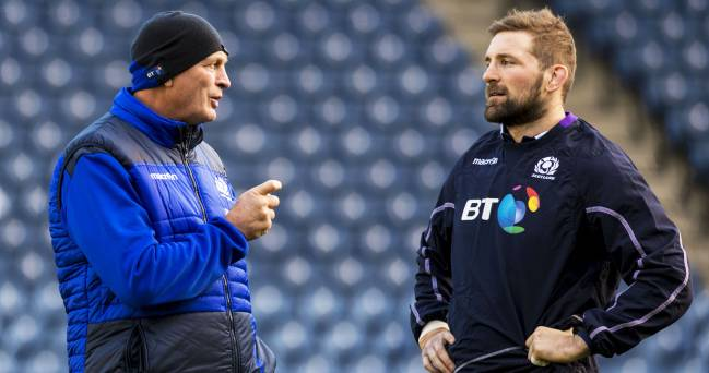 Scotland's John Barclay and head coach Vern Cotter.