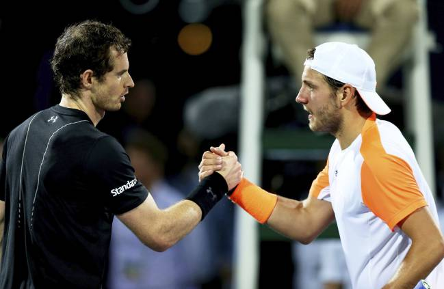 Andy Murray too good for Lucas Pouille in Dubai.