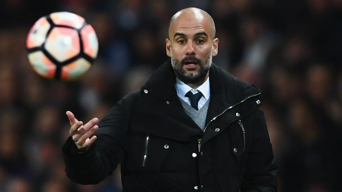 Manchester City boss Pep Guardiola shows confidence