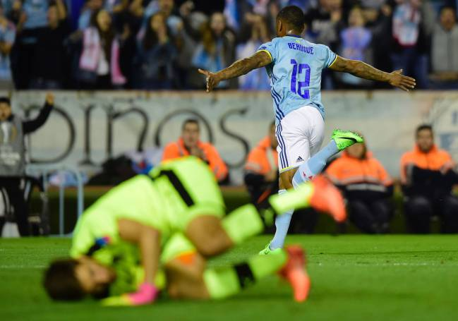 Claudio Beauvue's late winner for Celta against Krasnodar.