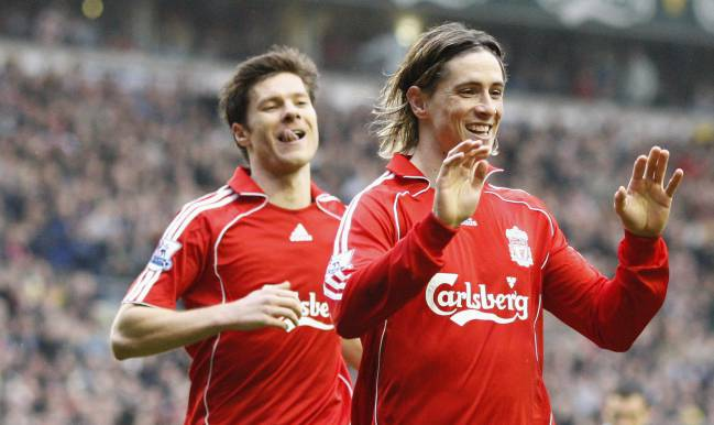 """Spanish Liverpool"" pair Fernando Torres and Xabi Alonso"