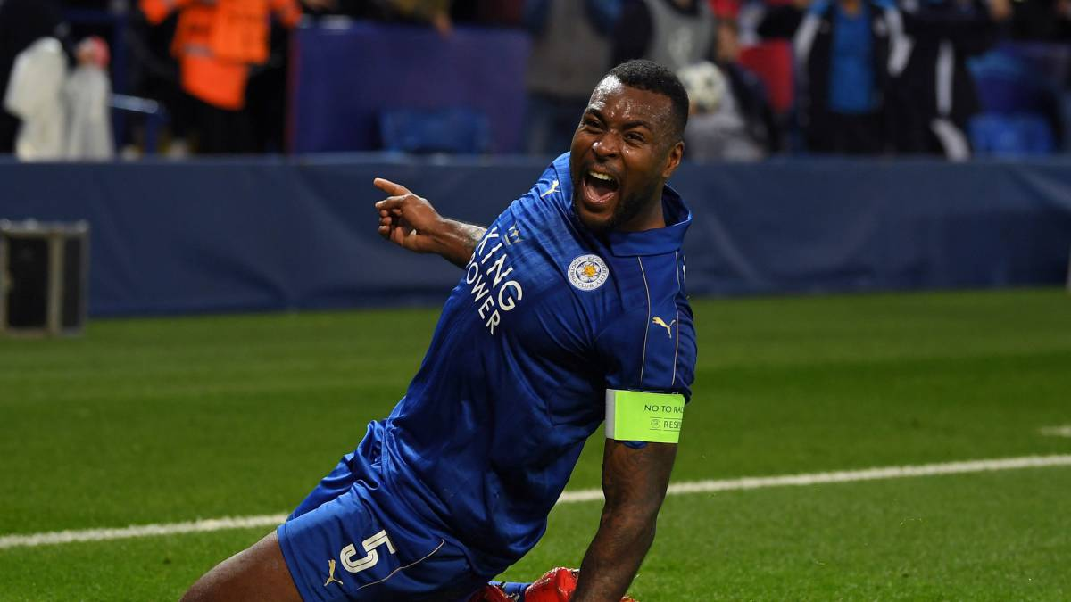 The Leicester captain opened the scoring against Sevilla at The King Power Stadium to become the first Jamaican to net in Europe's elite competition