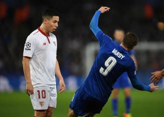 Nasri sees red after Vardy clash
