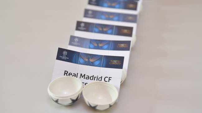 Real Madrid and the other draw cards ahead of the UEFA Champions League 2016/17 Quarter-final Draw in Nyon, Switzerland.