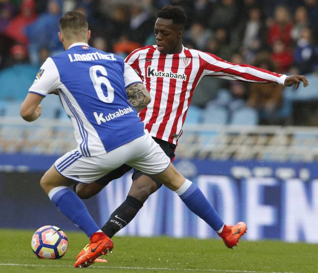 Iñaki Williams is last week's Basque derby at Anoeta