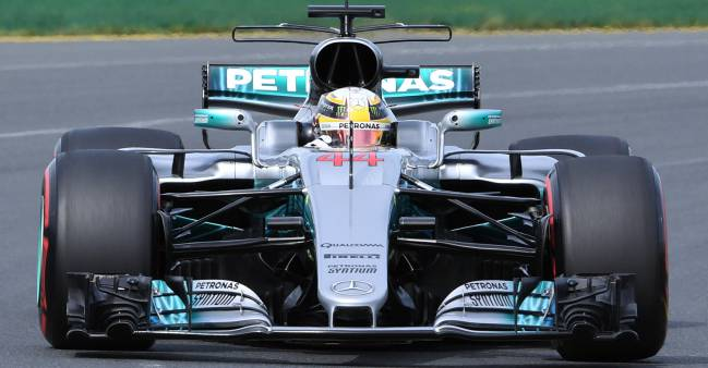 Hamilton and Mercedes on top in practice for Australian GP