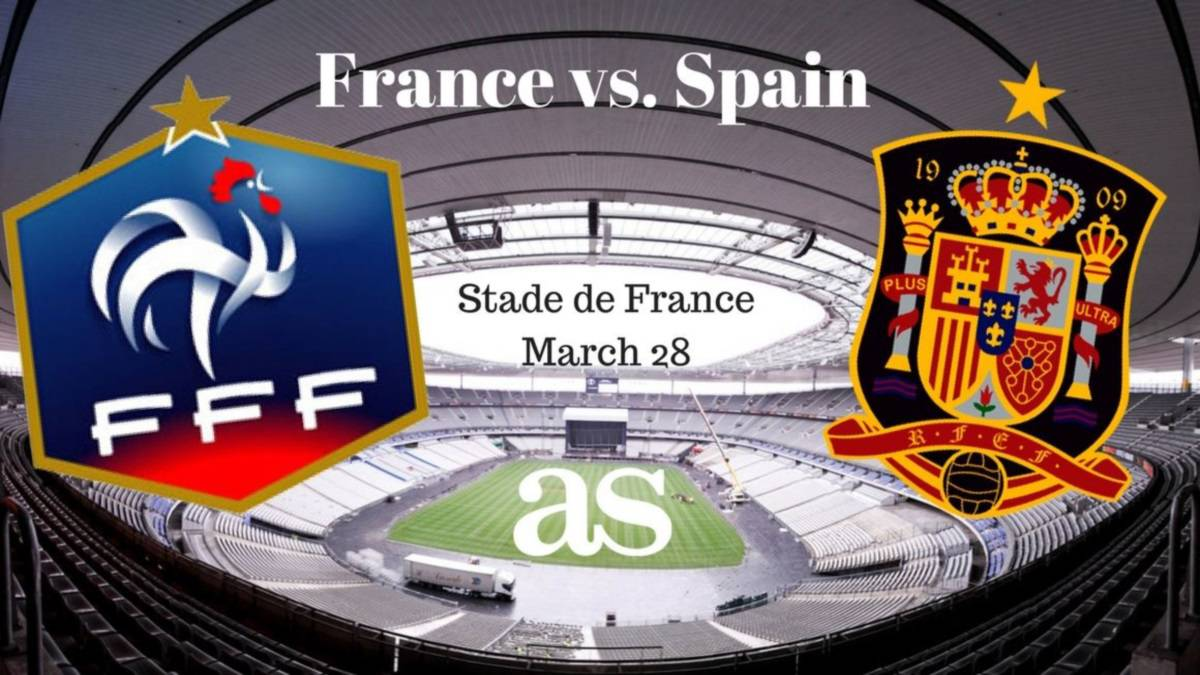 All the information you need on where and when to watch France v Spain International friendly game at Stade de France (Paris) on Tuesday March 28 2017, kick-off 21:00 CET.