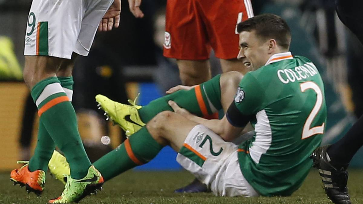 Seamus Coleman's Everton teammate Ashley Williams offered support to the Irishman, while Funes Mori's injury compounded Koeman's woes.
