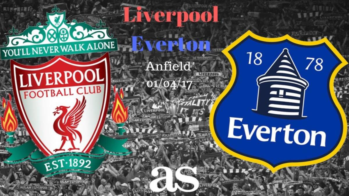 All the information you need on where and when to watch Liverpool v Everton Merseyside derby at Anfield on Saturday April 1st 2017, kick-off 13:30 CET.