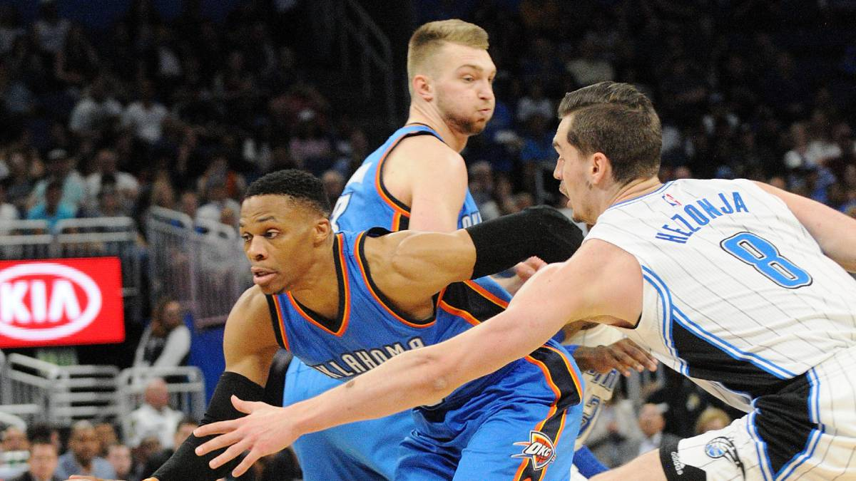 Russell Westbrook lands 57 points in 38th triple-double of the season.