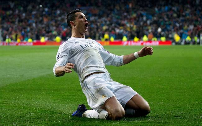 Cristiano Ronaldo of Real Madrid celebrates