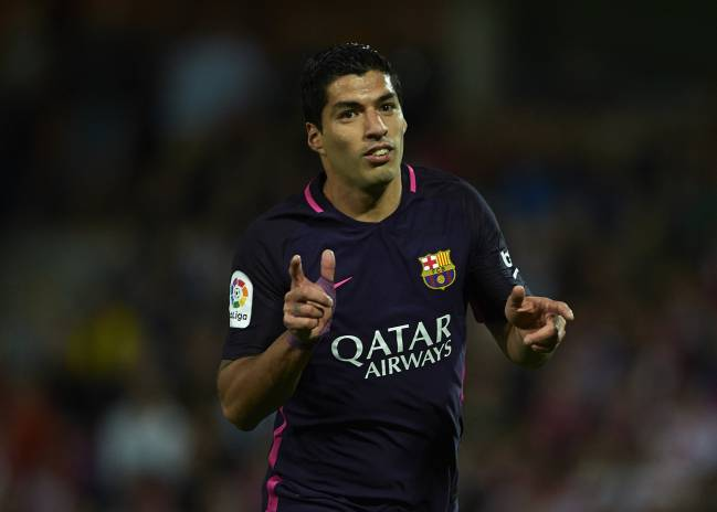 Luis Suarez of FC Barcelona will be gunning for Sevilla.