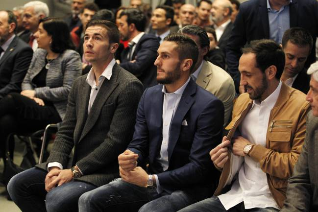 Gabi, Koke and Juanfran at today's event