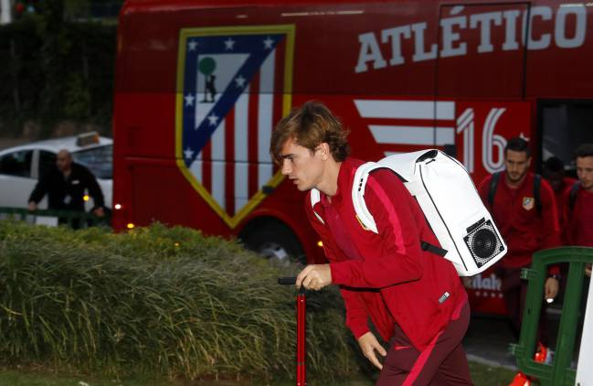 Griezmann will be arriving at the Bernabéu...today just for the derby.
