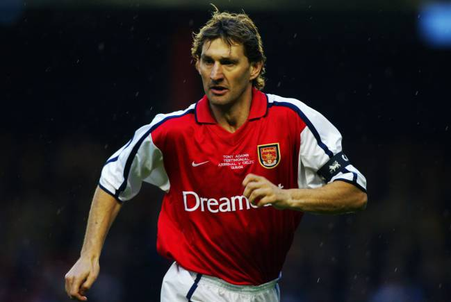 Back in his Arsenal playing days, Tony Adams