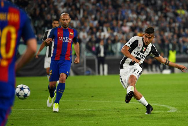 Dybala rifles in number 2 against Barça