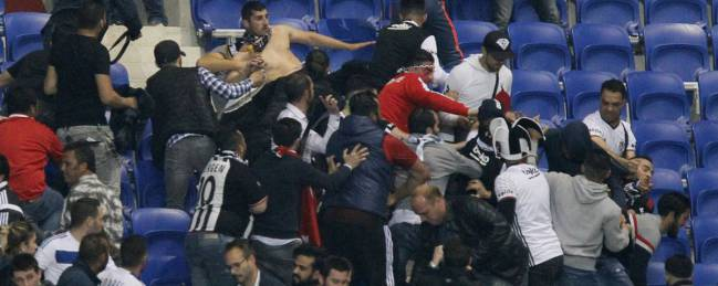 Violence and humanity at European football matches