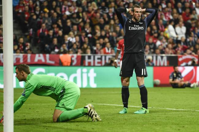 Gareth Bale in last week's first leg against Bayern